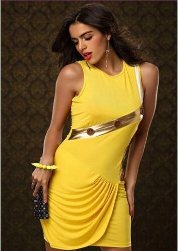 Dámské společenské šaty Yely - žlutá