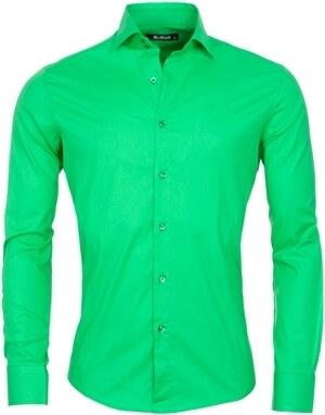d89b10880b1 Pánska slim košile REROCK   Zelená 6001-G - Glami.cz