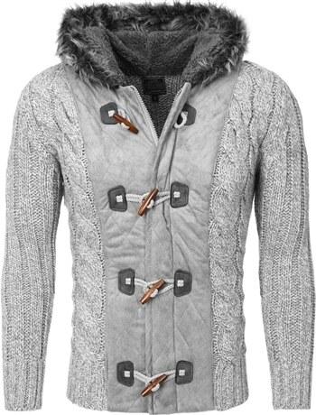 Pánský svetr s kapucí CARISMA   7173-Grey - Glami.cz 8ba791b789