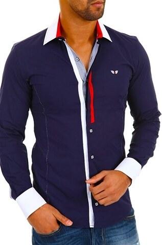 Pánská tmavě modrá košile CARISMA 8036 dlouhý rukáv slim fit - Glami.cz b869d06265
