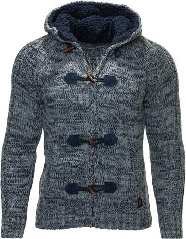 Pánský pletený svetr CARISMA na knoflíky   7209-Navy - Glami.cz 35423dcc4c