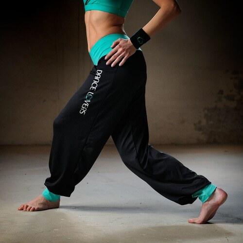 Sportovní kalhoty Primary black aquamarine