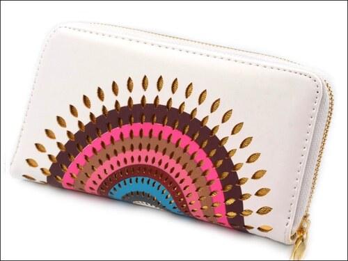 Luxusní bílá peněženka Mandala