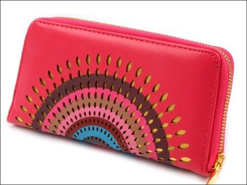 Luxusní růžová peněženka Mandala