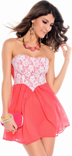 0fa6e0ca2372 I-Moda Dámské šaty - růžové DAMSON d-sat187pi - Glami.cz