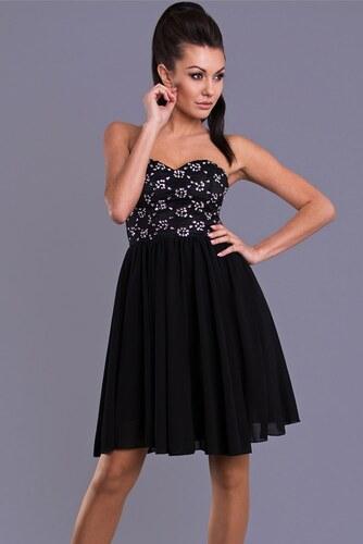 2d4e507fc52 I-Moda Krátké plesové šaty černé Emamoda ns-sa030bl - Glami.cz