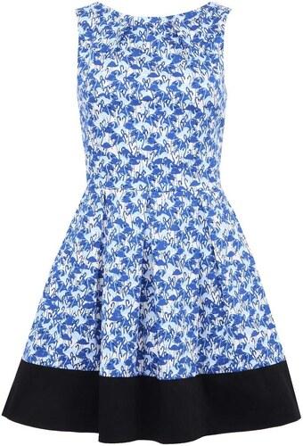 83f3e2af013b Modré šaty s plameňáky a černým lemem Closet - Glami.cz