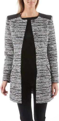 camaieu manteau femme noir et blanc. Black Bedroom Furniture Sets. Home Design Ideas