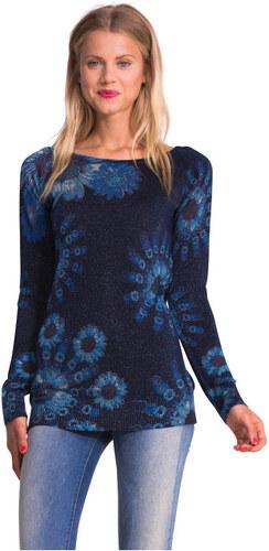 Desigual Dámský svetr Maria Del Carmen Azul Capri 51J21B4 5067 S ... 317d212502