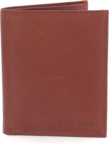 Pánská kožená peněženka v barvě koňak 0166 hnědá
