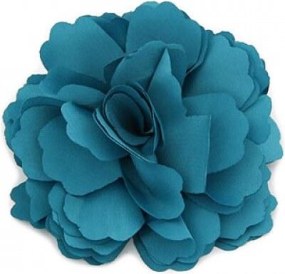Květina do vlasů a na klopu tmavě modrá A25885 - Glami.cz 421b1c2129