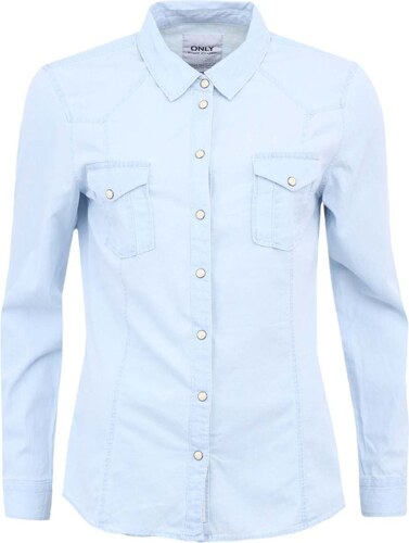 ad9f151dc47 Světle modrá džínová košile ONLY Amanda - Glami.cz