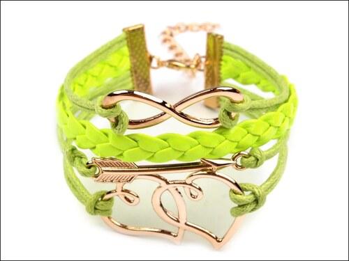 Stylový zelený náramek