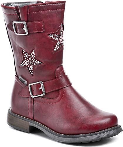 Dětská obuv Peddy PT-533-35-22 červené dívčí kozačky - Glami.cz 224946bb82