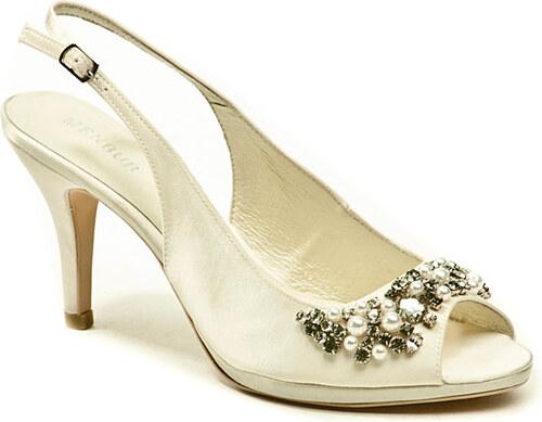 40cc2b44d61 dámská svatební obuv Menbur 4205 ivory lodičky - Glami.cz