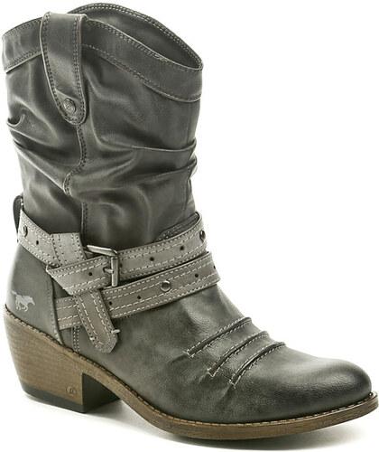 4cb8aca1186 dámská obuv Mustang 1013-514-20 šedé kozačky - Glami.cz