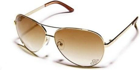 GUESS sluneční brýle Kylie Aviator-šedá