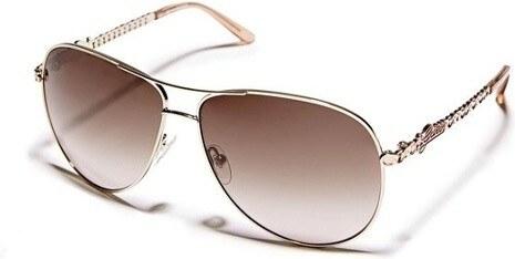 GUESS sluneční brýle Adiva Aviator-zlatá