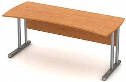 Stůl pracovní vykrojený - kovová podnož