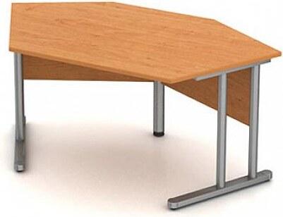 Stůl pracovní rovný - hnízdo - kovová podnož