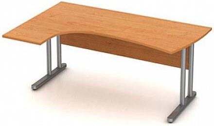 Stůl pracovní rohový s jednací nástavbou - kovová pod