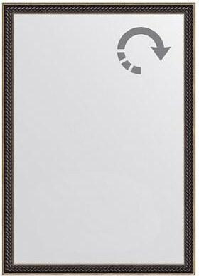 Zrcadlo kroucený mahagon