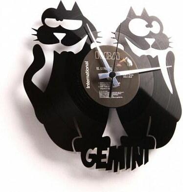 Designové nástěnné hodiny Discoclock Z03 Blíženci 30cm