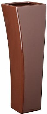 Váza Quadro V hnědá 9x29