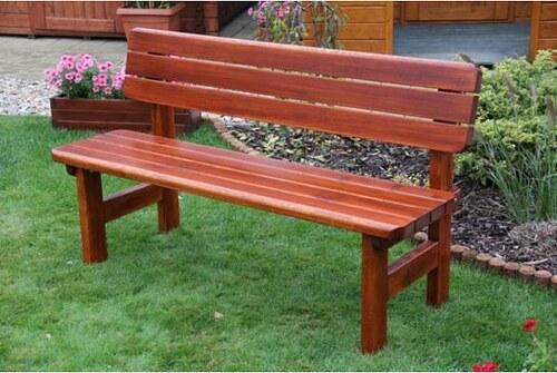 Zahradní lavice Rovná s opěrkou