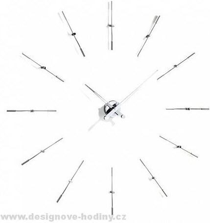 Designové nástěnné hodiny Nomon Merlin Inox 12i 110cm