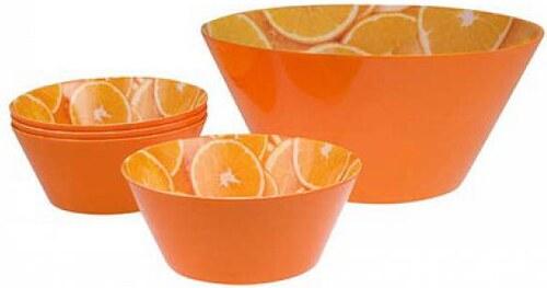 5d sada mel.salátových misek Orange