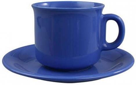 Šálek s podšálkem čaj modrý 230ml