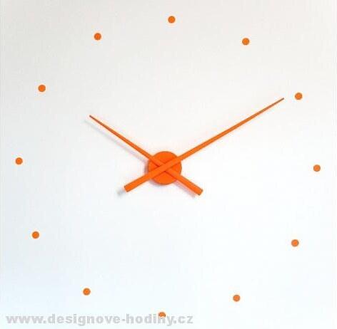 Designové nástěnné hodiny NOMON OJ oranžové 50cm