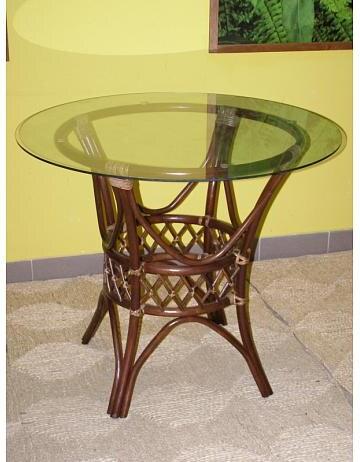 Ratanový jídelní stůl UNI-tmavý