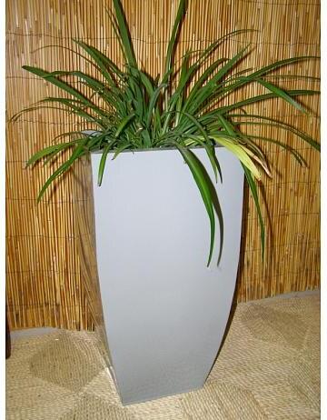 Zinkový květináč - šedý - střední