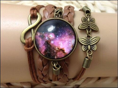 Koženkový náramek Vesmír IV.