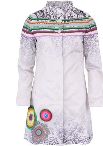 Bílý kabát s ornamenty Desigual Galactico - Glami.cz 580152a0f03