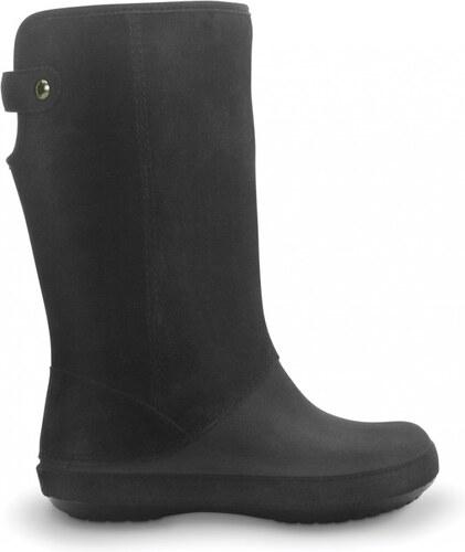 c7d146eef06 Crocs Berryessa Tall Suede Boot Black Černá W10 41-42 - Glami.cz