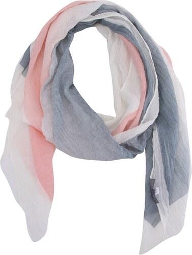 8a127306223 Růžovo-krémovo-šedý šátek INVUU London - Glami.cz