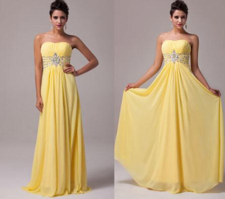 361e4814a57 Dlouhé šaty v antickém stylu - žluté - Glami.cz