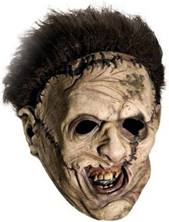 Maska Leatherface s parukou