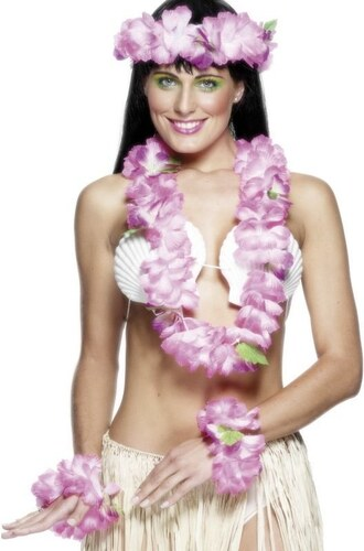 Havajská sada růžová