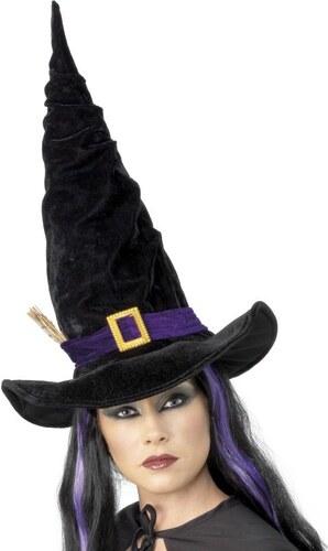 Klobouk Čarodějnice černý s větvičko