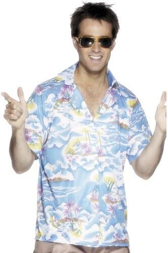 Havajská košile modrá Velikost L 52-54