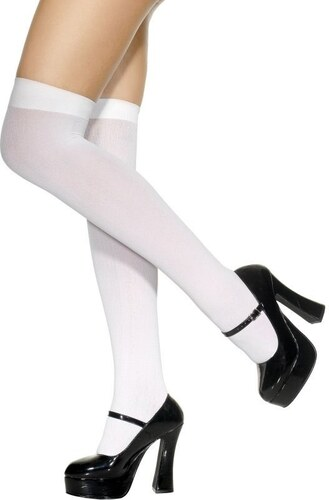 Punčochy nad kolena bílé
