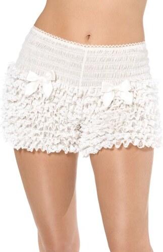 Kalhotky krajkové bílé