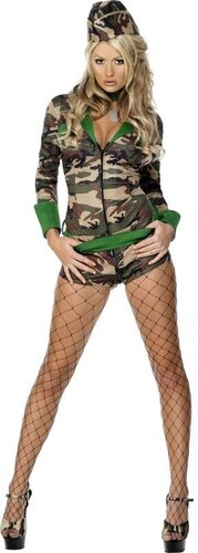 Kostým Sexy vojanda Velikost M 40-42