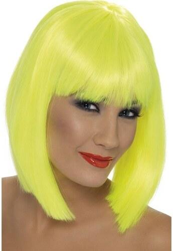 Paruka Glam neon žlutá