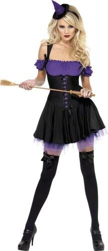 Kostým Sexy čarodějnice fialová Velikost L 44-46
