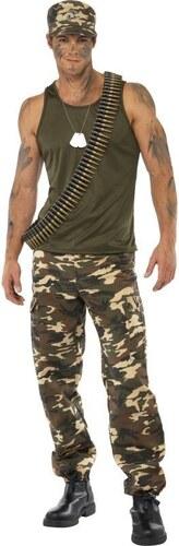 Kostým Voják maskáče Velikost L 52-54